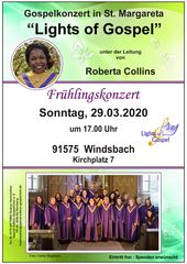 "Gospelkonzert in St. Margareta von ""Lights of Gospel"""