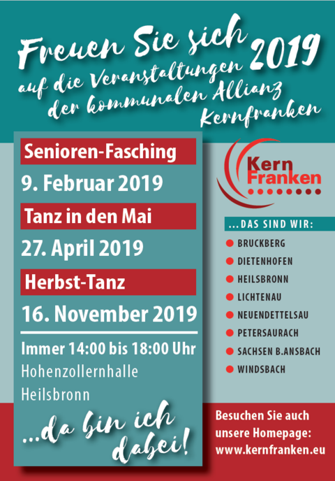 Kernfranken Seniorennachmittage 2019