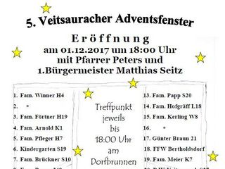 5. Veitsauracher Adventsfenster